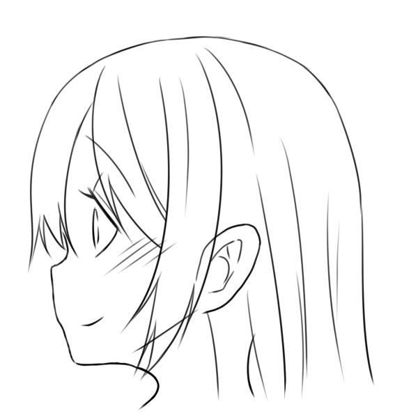 簡単な横顔の描き方