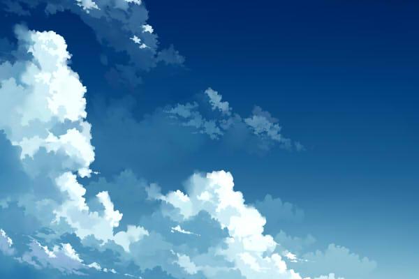 青空と雲の描き方 絵師ノート