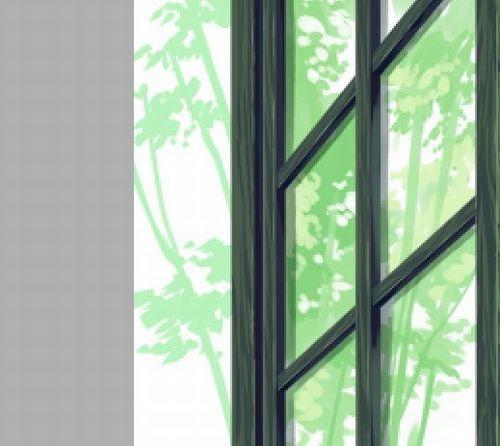 木々に囲まれたガラス窓の描き方 絵師ノート
