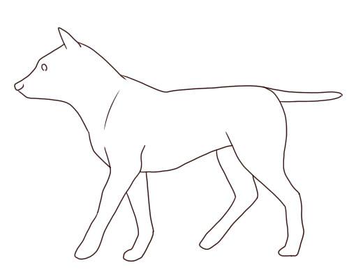 基本のデッサン手法を使った犬の描き方 絵師ノート