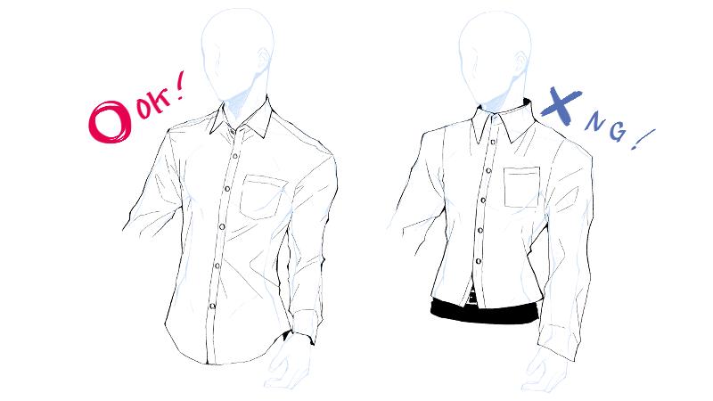 男らしくてイケメンなスーツのワイシャツの描き方 絵師ノート
